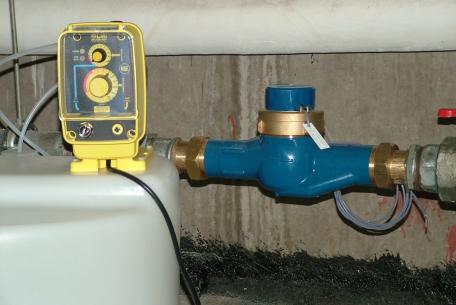 Pompe compteur traitement de l'eau
